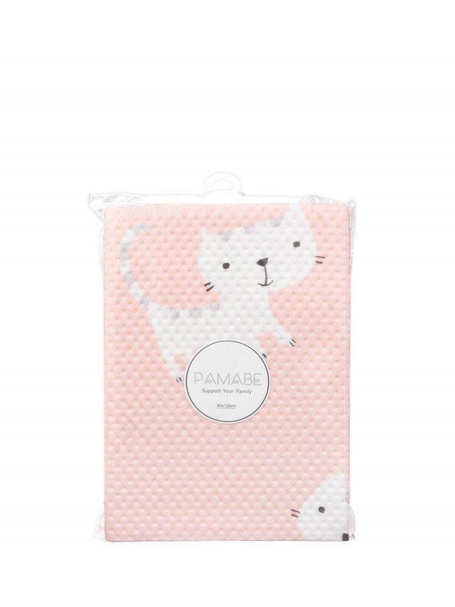 PAMABE 竹纖維防水嬰兒尿布墊 頑皮小貓 ( 粉 ) - 70 x 130 cm