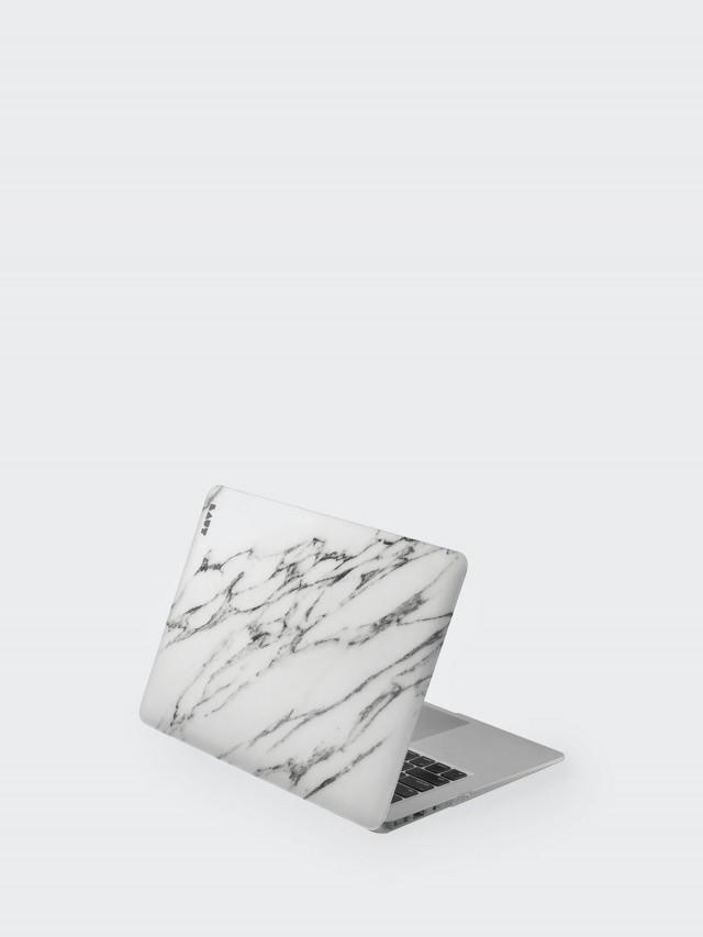 LAUT MacBook Pro 13吋 經典大理石保護套 - 白