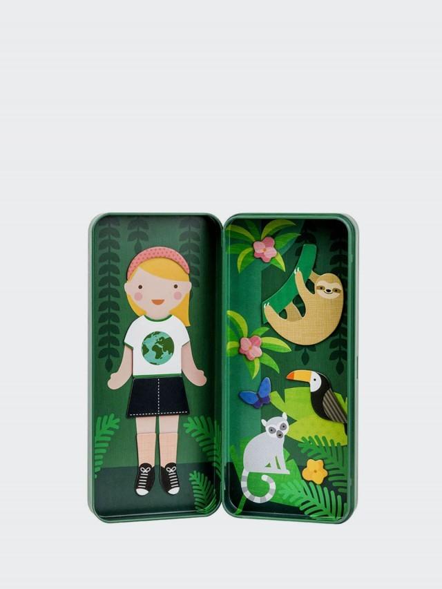 petit collage 隨行磁鐵盒 - 探險女孩