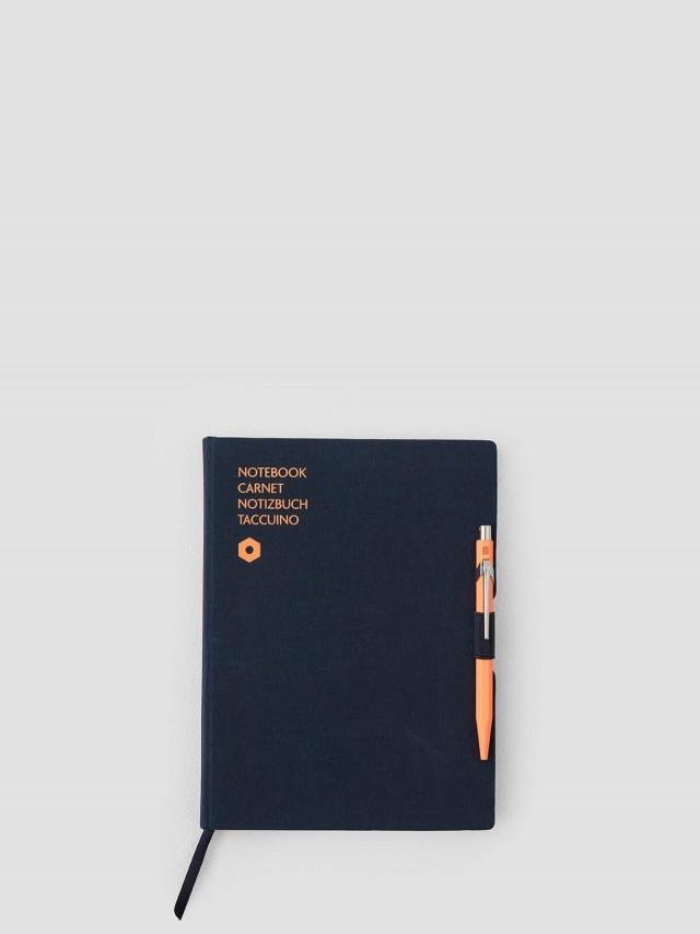 CARAN D'ACHE 卡達 849 筆記本禮盒組 - A5 / 橘 x 藍