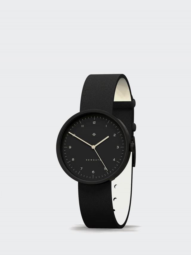 NEWGATE 對錶組 DRUMLINE - 皮革錶帶 - 經典數字 - 紳士黑 / 40mm + 復古白 / 40mm