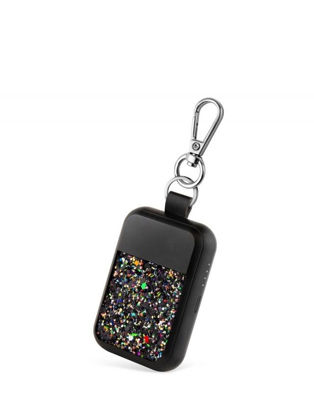 Wipop 無線充電鑰匙扣 x KEYWI Premium - 亮片黑