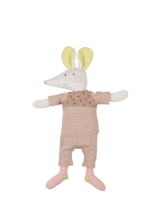 Moulin Roty Les Petits Dodos 老鼠娃娃手搖鈴 28 cm