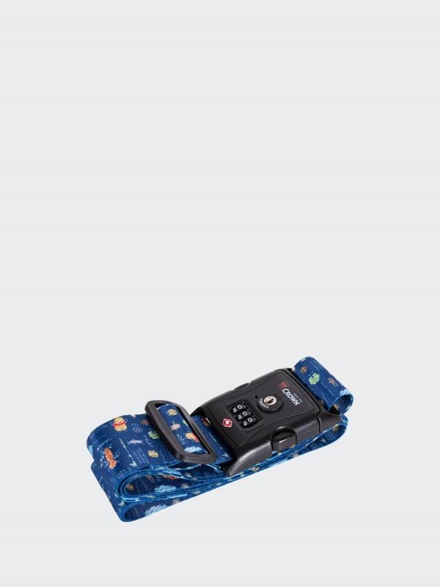 CROWN Disney 密碼捆箱帶 - 藍色花園維尼小熊