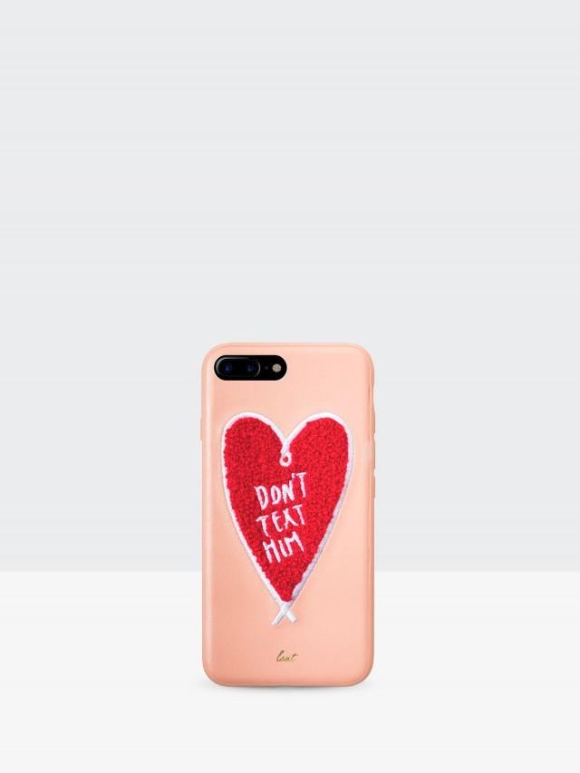 LAUT POP 刺繡系列人造皮革保護殼  - 粉紅愛心