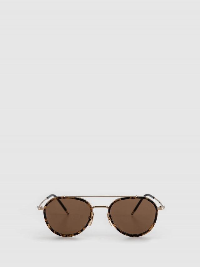 THOM BROWNE 玳瑁金屬框太陽眼鏡