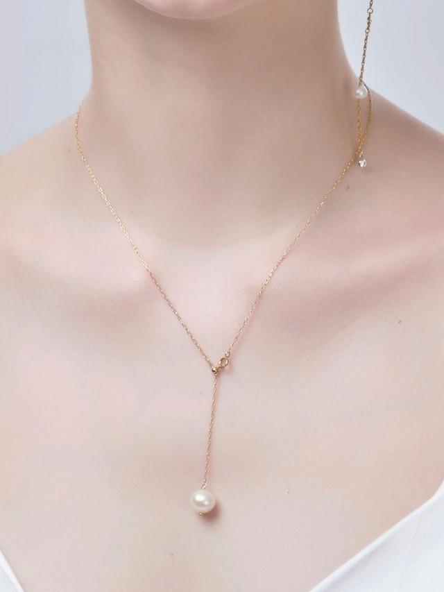 LESIS 項鍊 - White Drop Adjustable Necklace