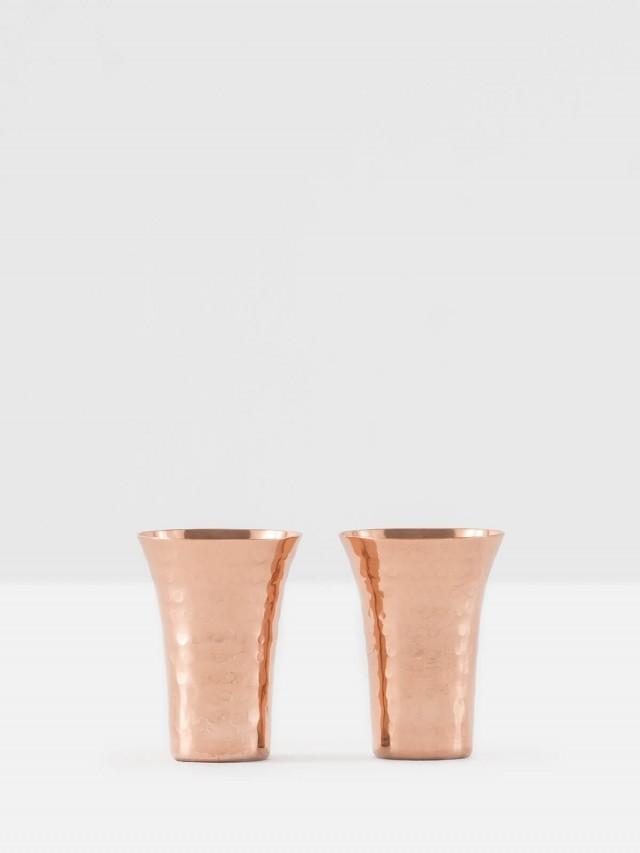 ALCHEMADE 復古工藝鎚目紅銅小對杯