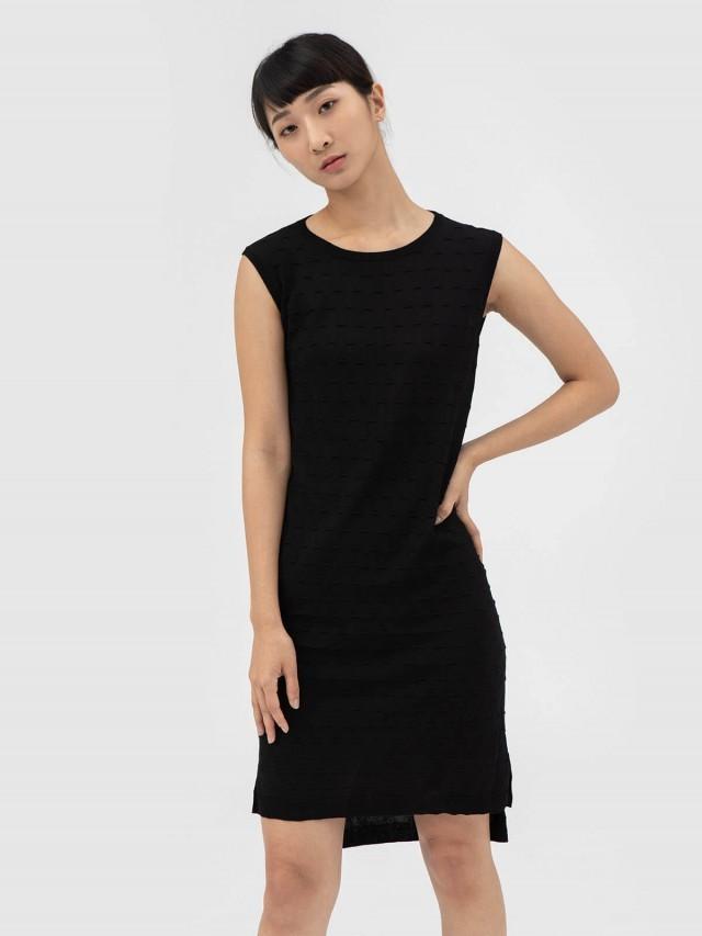 AUSTIN W. 針織洋裝 - 黑
