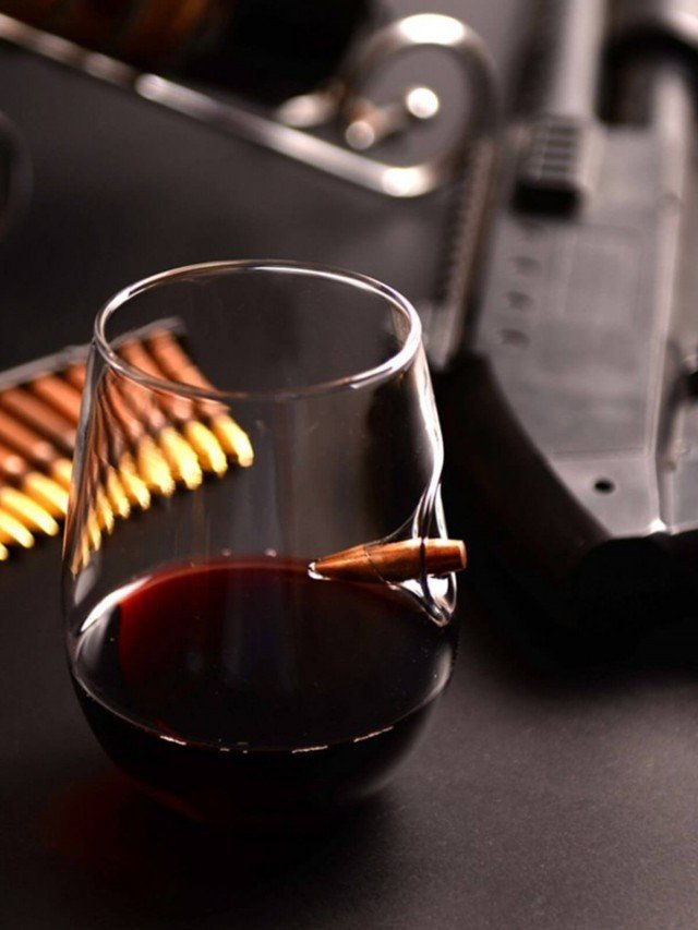 Lucky Shot 308 子彈手工玻璃紅酒杯