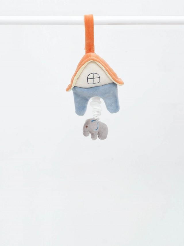 miYim 有機棉音樂拉鈴 - 大象房子