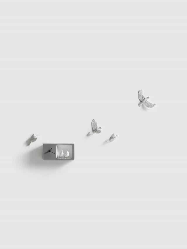 haoshi 麻雀時鐘 - 深灰