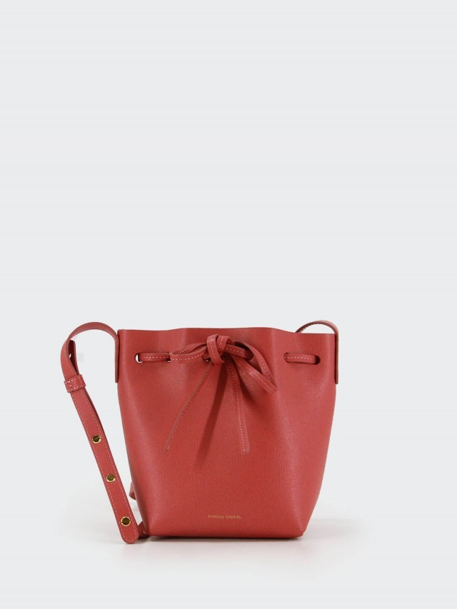 MANSUR GAVRIEL Mini Bucket 小牛皮 Mini 肩背 / 斜背水桶包 - 玫瑰粉