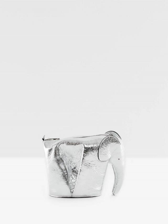 LOEWE Animales Elephant 立體大象造型斜揹 / 肩揹包 - 銀色