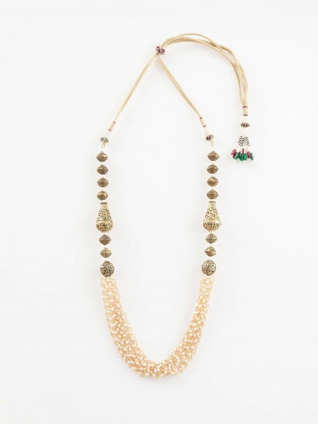 Carol Chugani 異國風黃銅串彩色珠飾項鍊