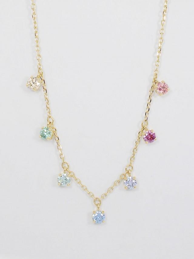 SWAROVSKI 多色水晶可調式項鍊