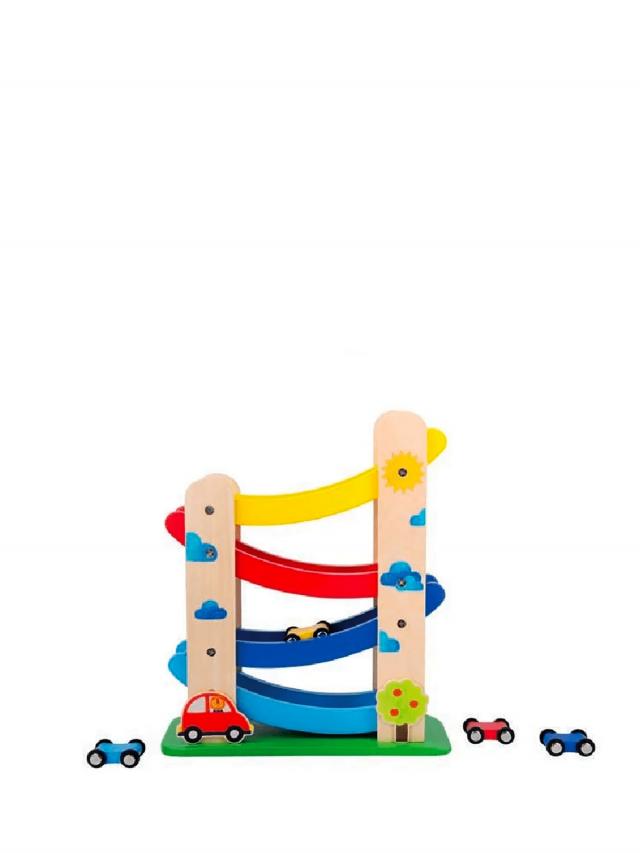 Moulin Roty Les Popipop 寶貝木製階梯汽車玩具組