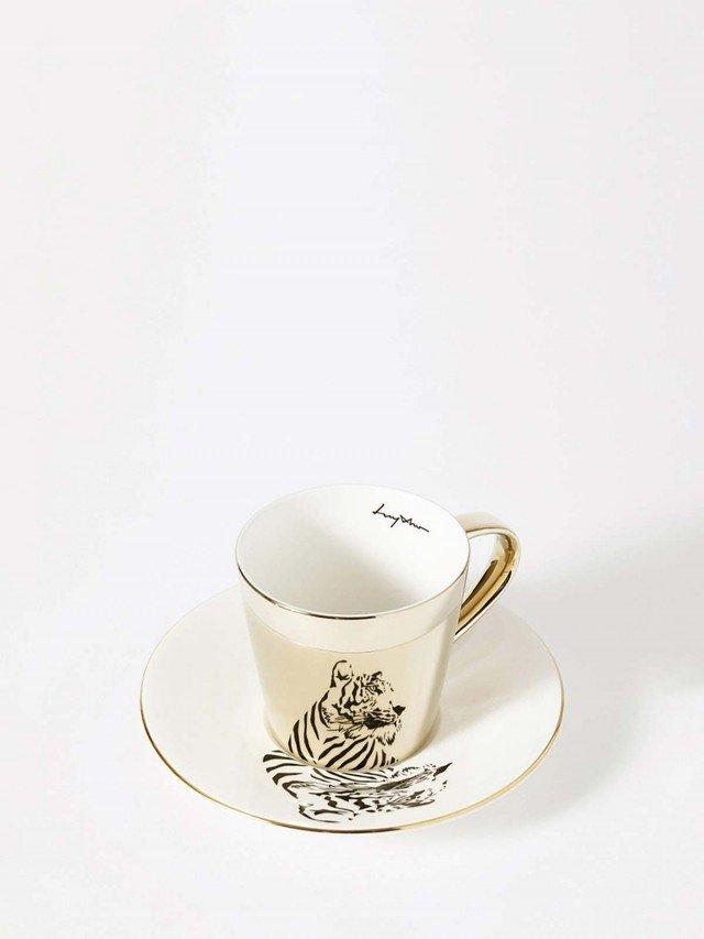 Luycho 鏡面倒影動物圖案咖啡杯 - 老虎 ( 滑面 )