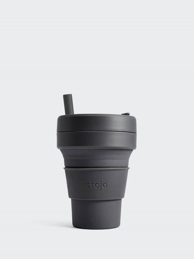 stojo 摺疊吸攜杯 布魯克林限定版 - 石炭灰