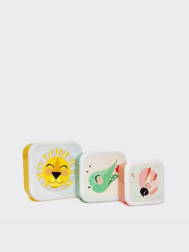 PETIT MONKEY 零食盒 3 入組 - 獅子與好朋友