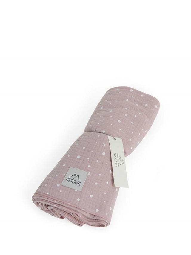 NANAMI 透氣多功能包巾 - 不規則點點 - 玫瑰粉