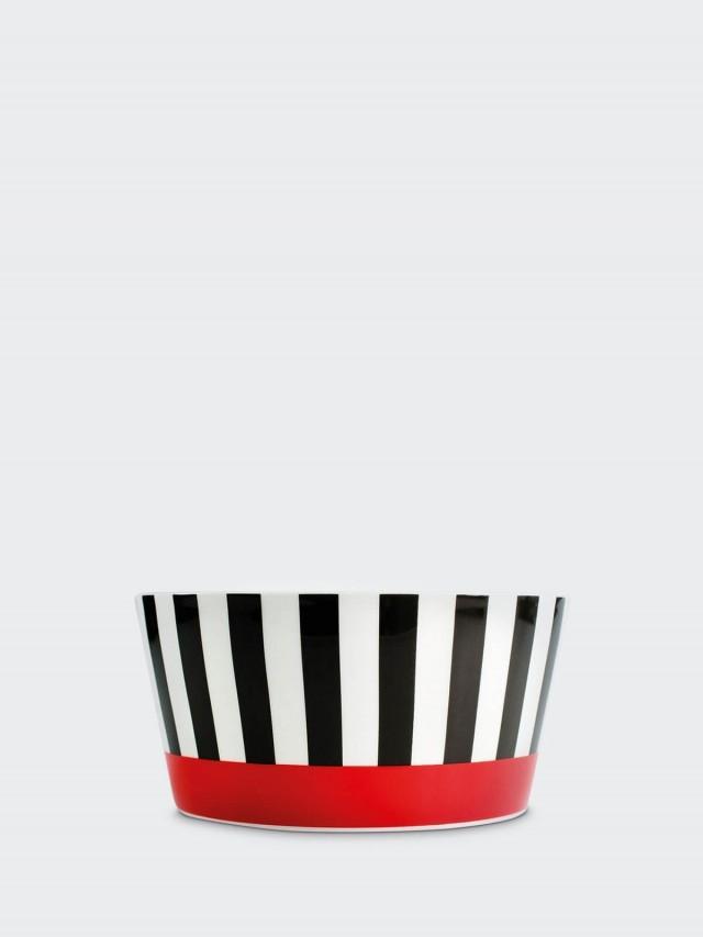 REMEMBER Muesli bowl - Black Stripes 骨瓷早餐碗 x 紅黑條紋