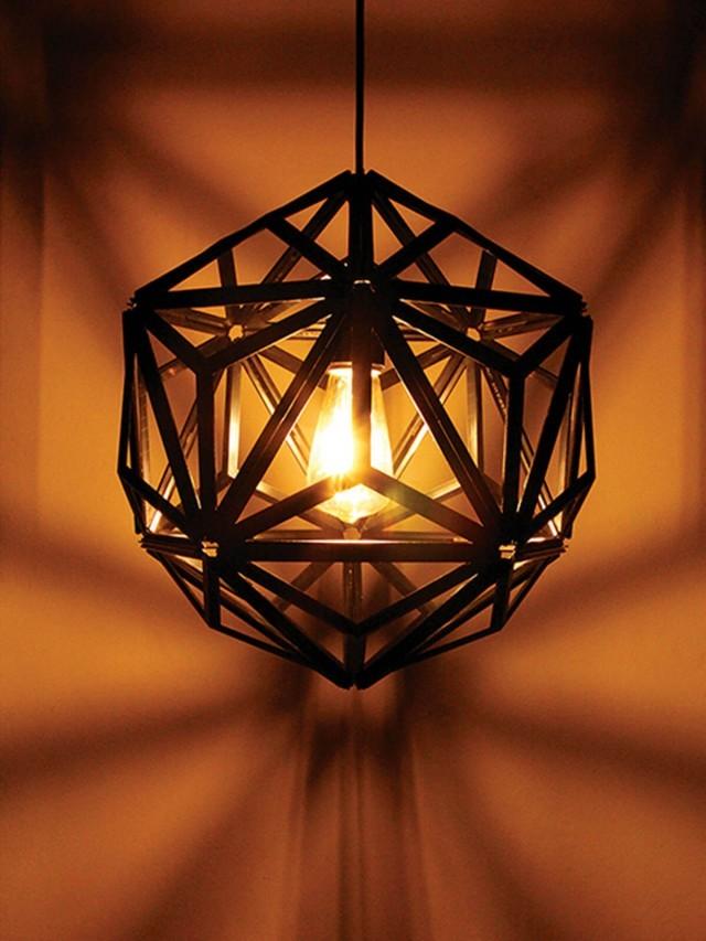 QUALY 三角幾何燈罩 - 鏤空黑