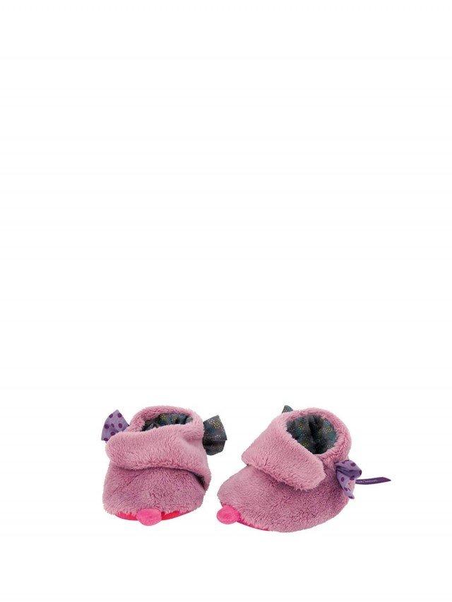 Moulin Roty 喬麗絲粉紫女寶寶專用保暖鞋套禮盒 0 - 6 個月
