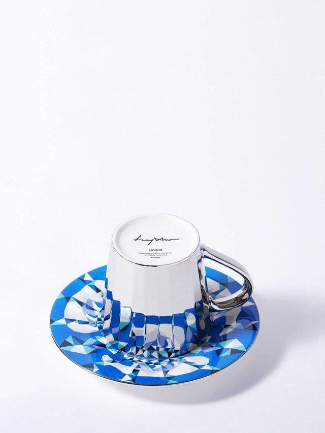 Luycho 鏡面倒影動物圖案咖啡杯 - 北極熊