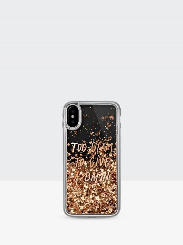 LAUT iPhone X POP 系列雙料保護殼 - 金粉閃耀