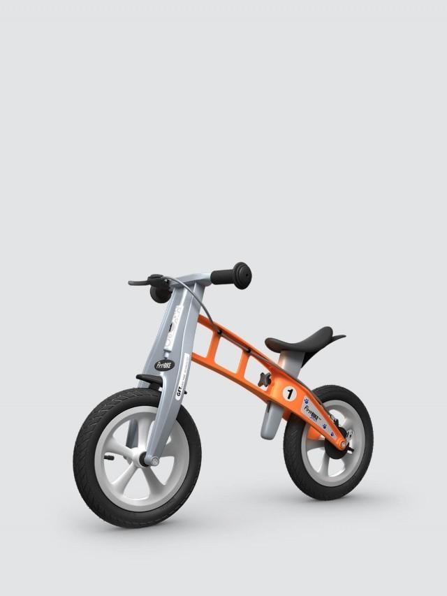 FirstBIKE 兒童滑步車 / 平衡車 - 街頭橘 / 附煞車