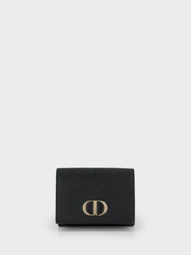 Dior 30 MONTAIGNE 輕巧三折短夾 x 黑色