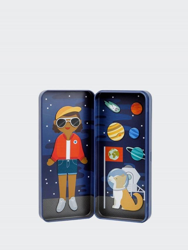 petit collage 隨行磁鐵盒 - 太空女孩