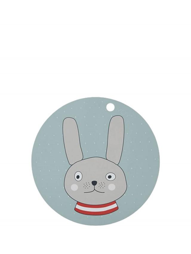 OYOY 圓形矽膠餐墊 - 格雷小兔