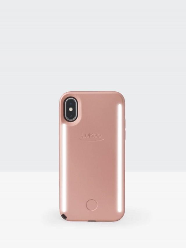 LuMee Duo 雙面 LED 補光手機殼 - 玫瑰金
