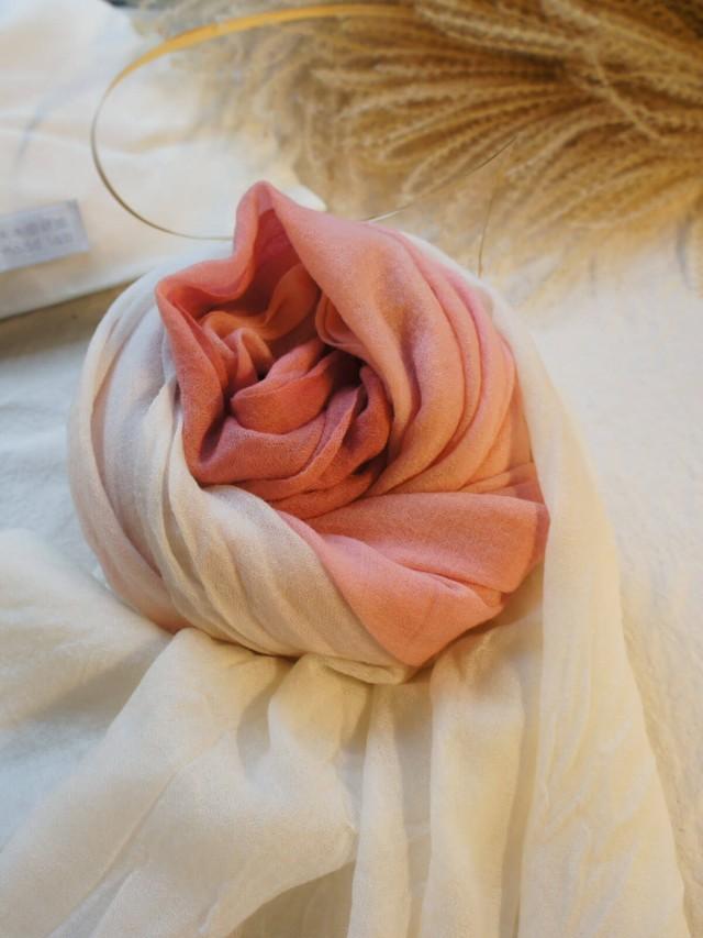 木木研室 植物染羊絨圍巾 - 吉野櫻