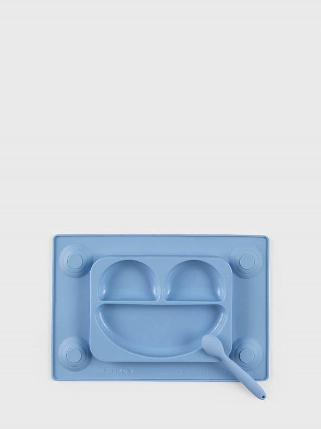 EasyTots EasyMat 防滑矽膠餐盤組 - 天空藍