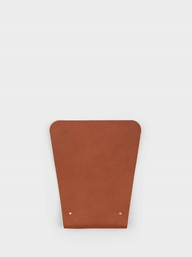 PLEASANT 梯形皮革滑鼠墊 - 棕