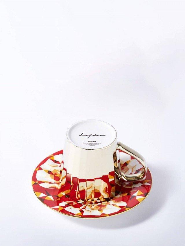 Luycho 鏡面倒影動物圖案咖啡杯 - 非洲象