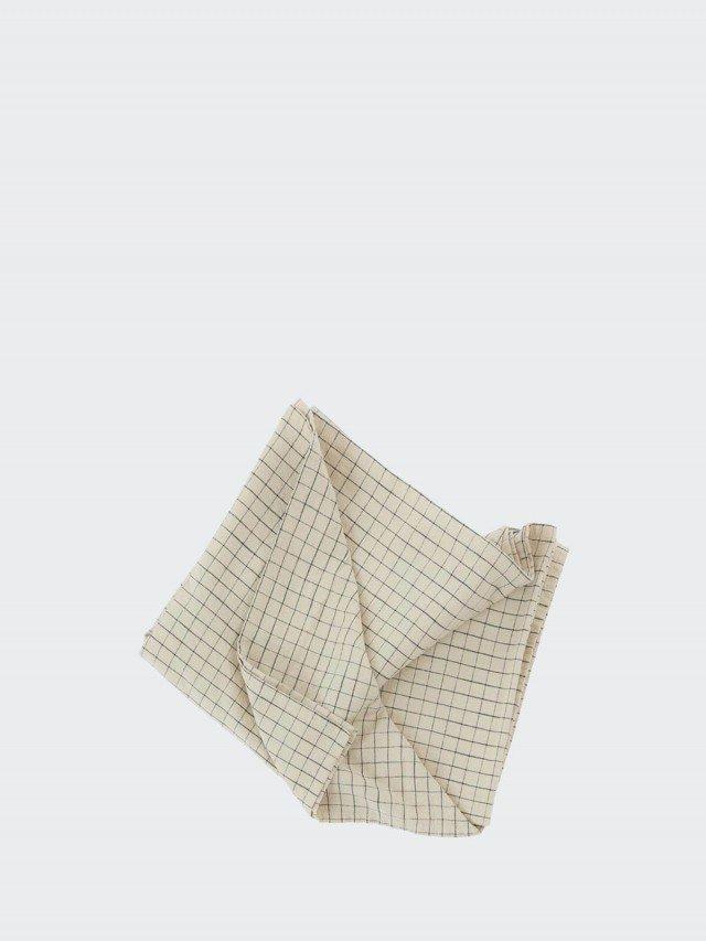 OYOY Gird 有機純棉格紋桌巾 - 經典黑白 x 小