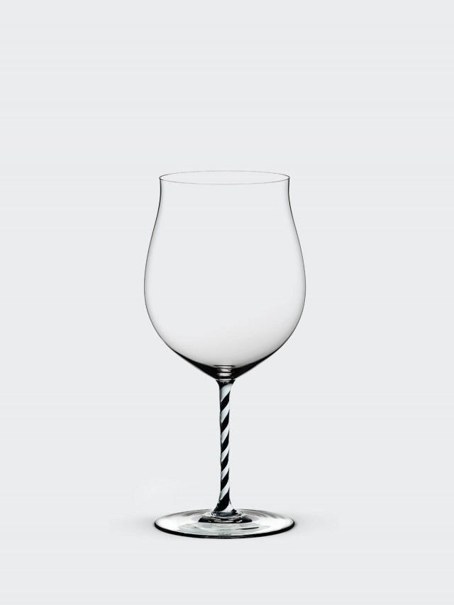 RIEDEL FATTO A MANO - Burgundy 勃根地黑白旋彩手工紅酒杯