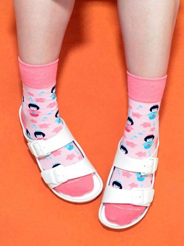 sokker 和服娃娃 4 分之 3 襪