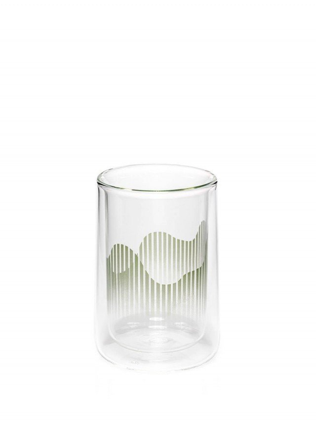 TZULAï 心適喫飯 - 大山雙層玻璃杯 ( 午後青 )