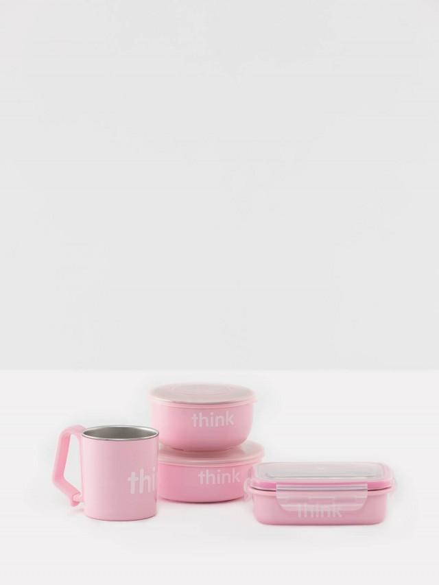 thinkbaby 無毒不鏽鋼餐具組 - 嫩粉紅