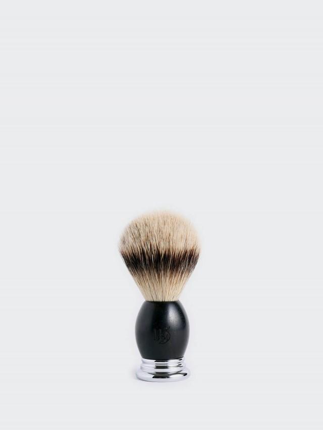 Grand Manner 尊爵系列 / 特級銀尖獾毛鬍刷 - 黑檀木