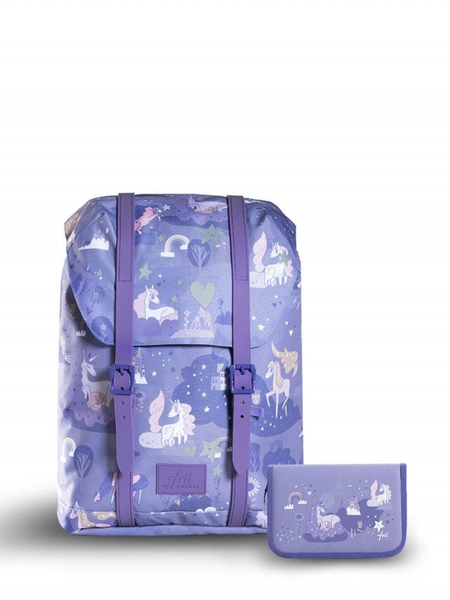 frii 輕量護脊書包 ( 2020新款 ) - Dreamworld 獨角獸紫 ( 贈同款筆盒 )