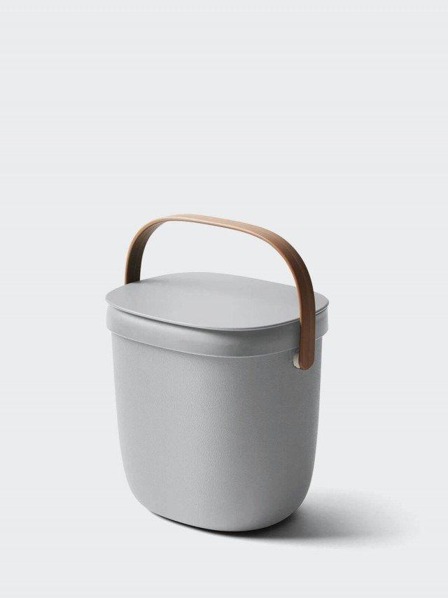 QUALY 食物回收桶 3.5L x 灰