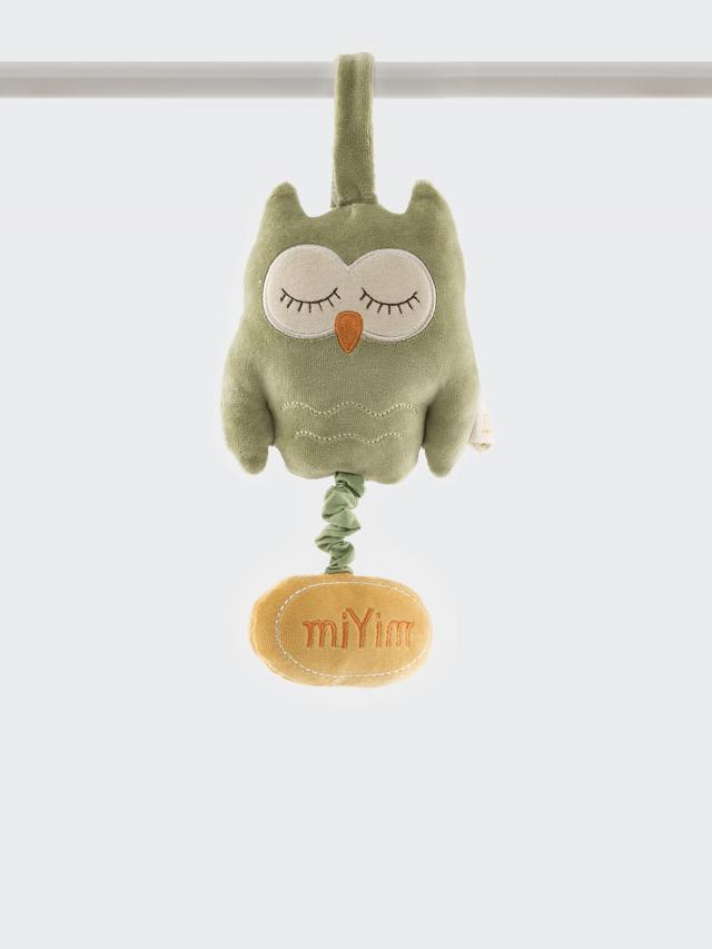 miYim 有機棉音樂拉鈴 - 歐唷貓頭鷹