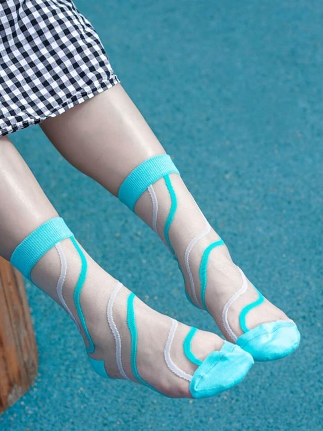 sokker 碧藍之夢 4 分之 3 玻璃襪
