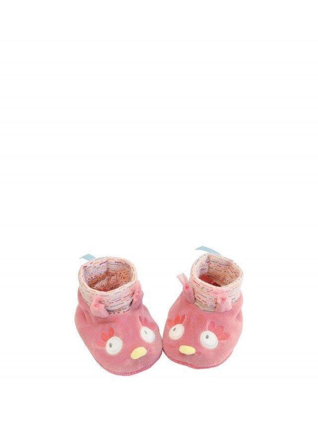 Moulin Roty 粉戀貓頭鷹女寶寶專用保暖鞋套  0 - 6 個月